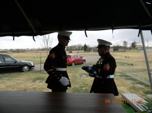 My father's funeral in 2013.